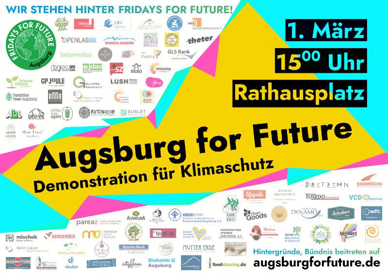 Gemeinsam gegen die Klimakrise — Augsburg for Future, Klima-Demo